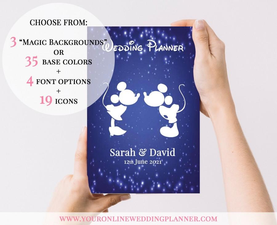Свадьба - DISNEY Wedding Planner Book, custom, princess, DISNEY Wedding Organizer, wedding planning book, bride, gift, bridesmaid, wedding gift