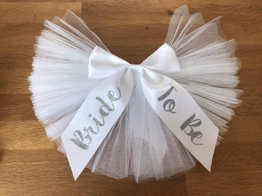 Свадьба - Glitter Booty veil / Bikini Veil,Bustle  Bride to Be, Hen Party essentials *Custom printing Available*