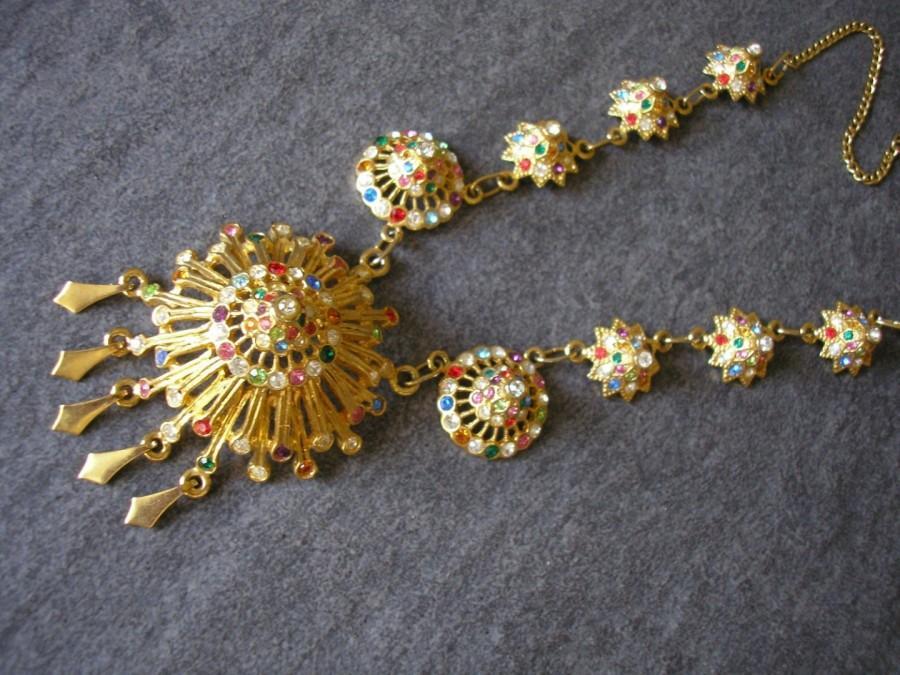Свадьба - Vintage 1980s/90s Byzantine/Etruscan Revival Necklace