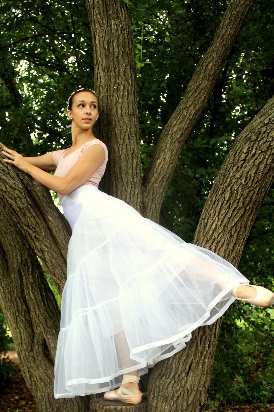 Mariage - Petticoat Slip - A-line Petticoat - Bridal Petticoat - Bridal Slip - Petticoat Slip - A-Line Slip - White Petticoat - Long Petticoat Slip
