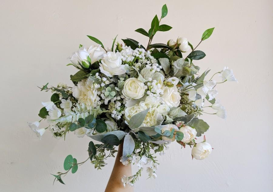 Mariage - Wedding Bouquet, Wedding Flowers, Silk Flower Bouquet, Silk Flowers, Bouquet, Flower Bouquet, Bridal Bouquet, The Faux Bouquets