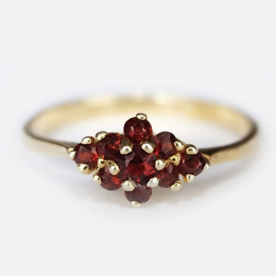 Mariage - garnet ring for women, garnet engagement ring, garnet ring women, womens garnet rings, garnet rings for women gold, round garnet ring