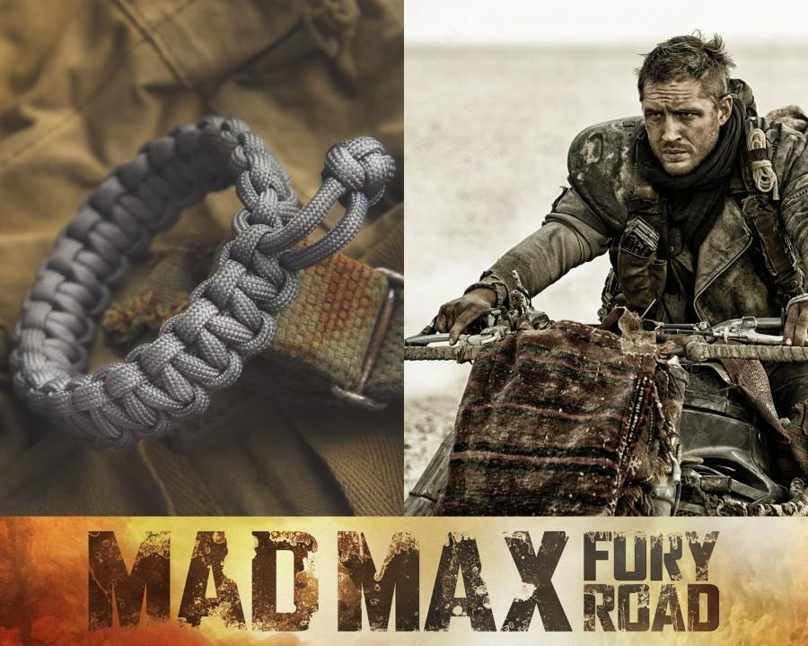 Mariage - Mad Max Fury Road Tom Hardy Paracord Survival Bracelet - CHARCOAL GREY Color