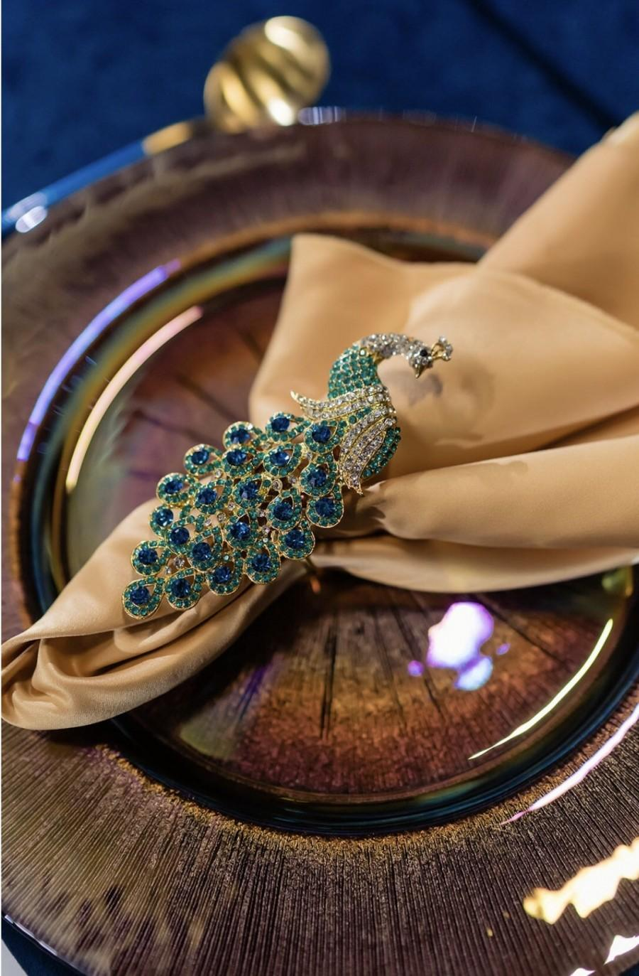 Wedding - Peacock Napkin Rings