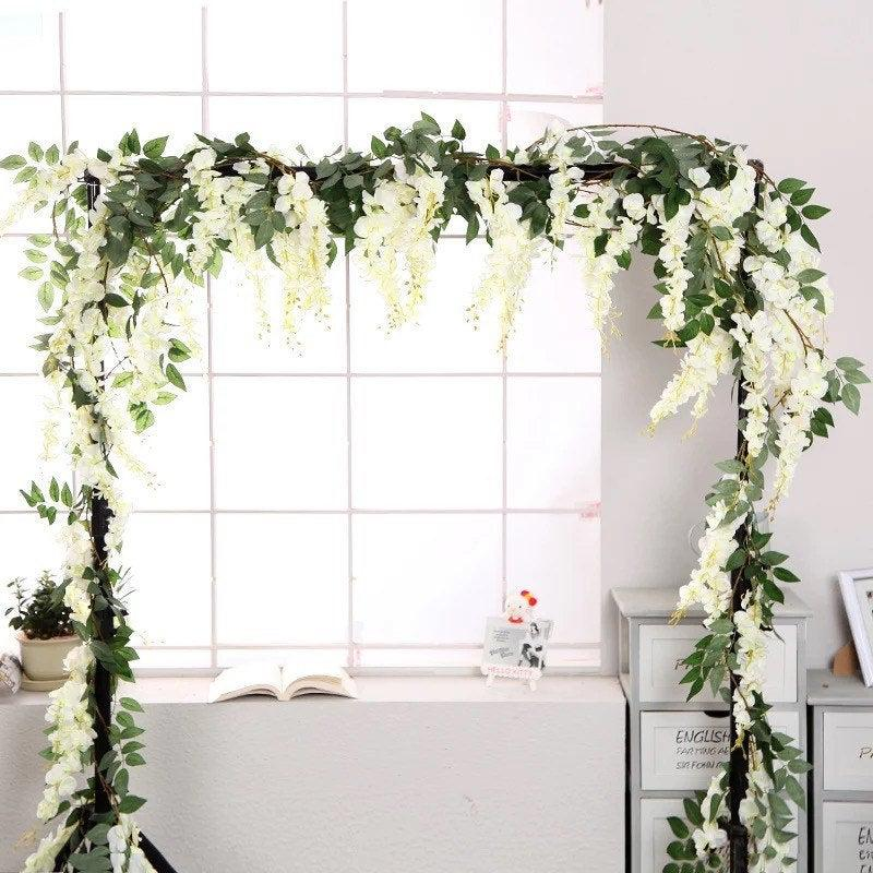 زفاف - Greenery Wedding flower Garland 5.5 feet/ Flower arch / Flower Cascades / Wisteria Garland / Greenery Garland / Wedding Backdrop / Garland