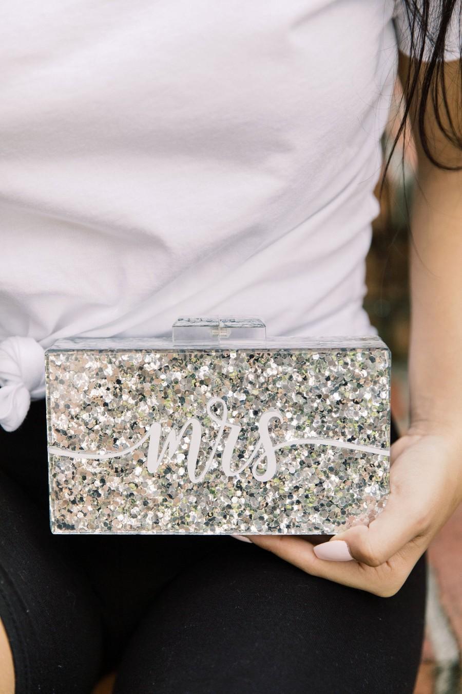 Свадьба - Custom Glitter Acrylic Clutch
