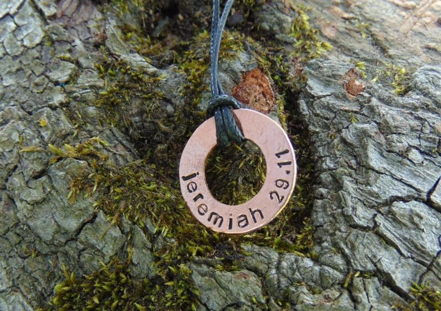 Свадьба - Mens necklace, Personalized Washer Necklace, Boyfriend Gift, Gifts for men, Mens Personalized, Groomsmen, Anniversary gifts for men