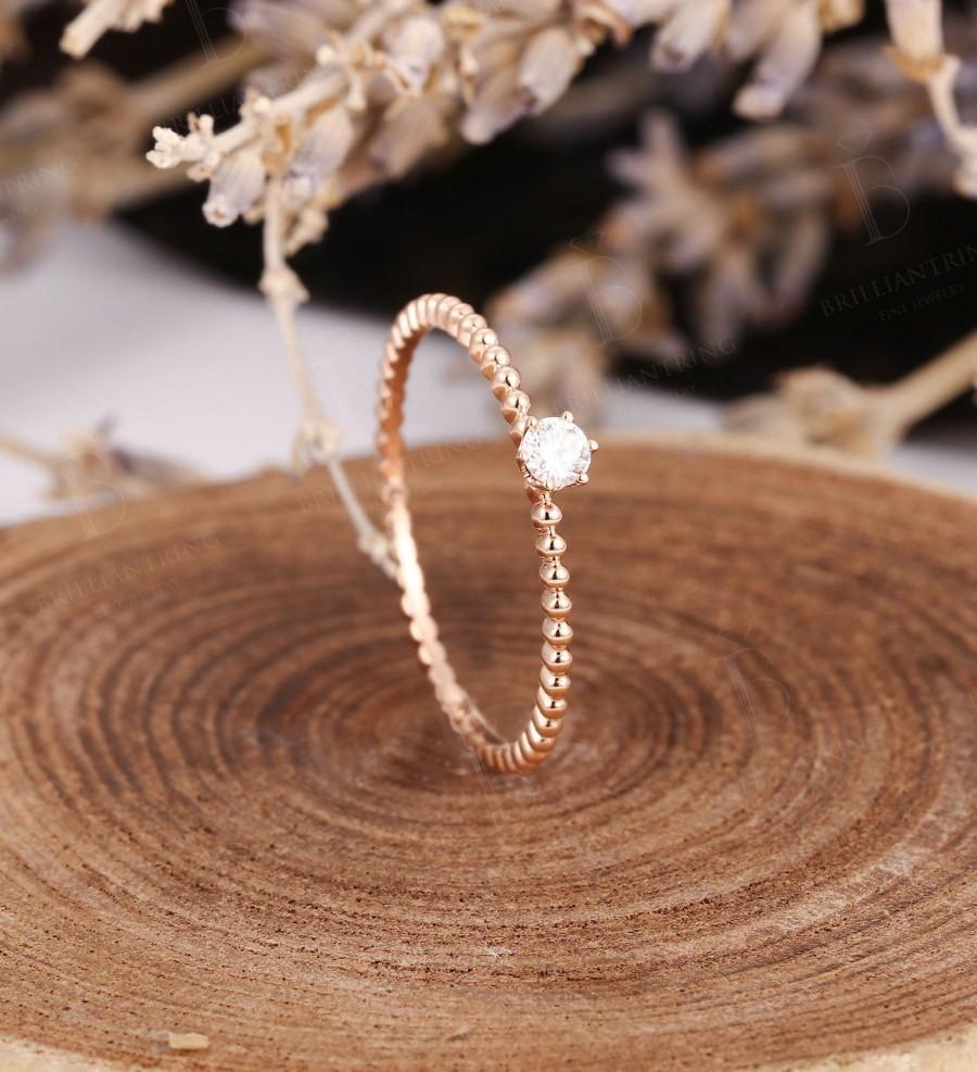 Hochzeit - Vintage engagement ring women diamond unique wedding ring Dainty Minimalist anniversary gift for her Bridal set