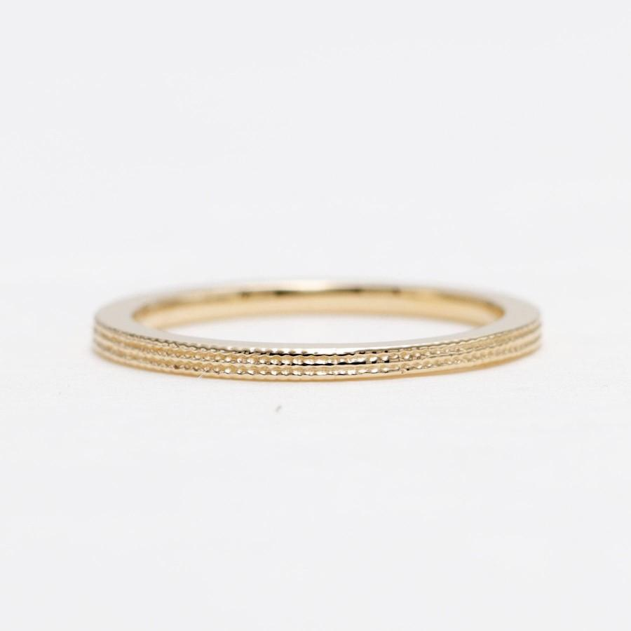 Свадьба - 14K Yellow Gold Line Design Ring/Perfect Matching Band for Engagement Ring, Any Ring/Modern Ring/Minimal Ring/Simple Band/Wedding Band/Ring