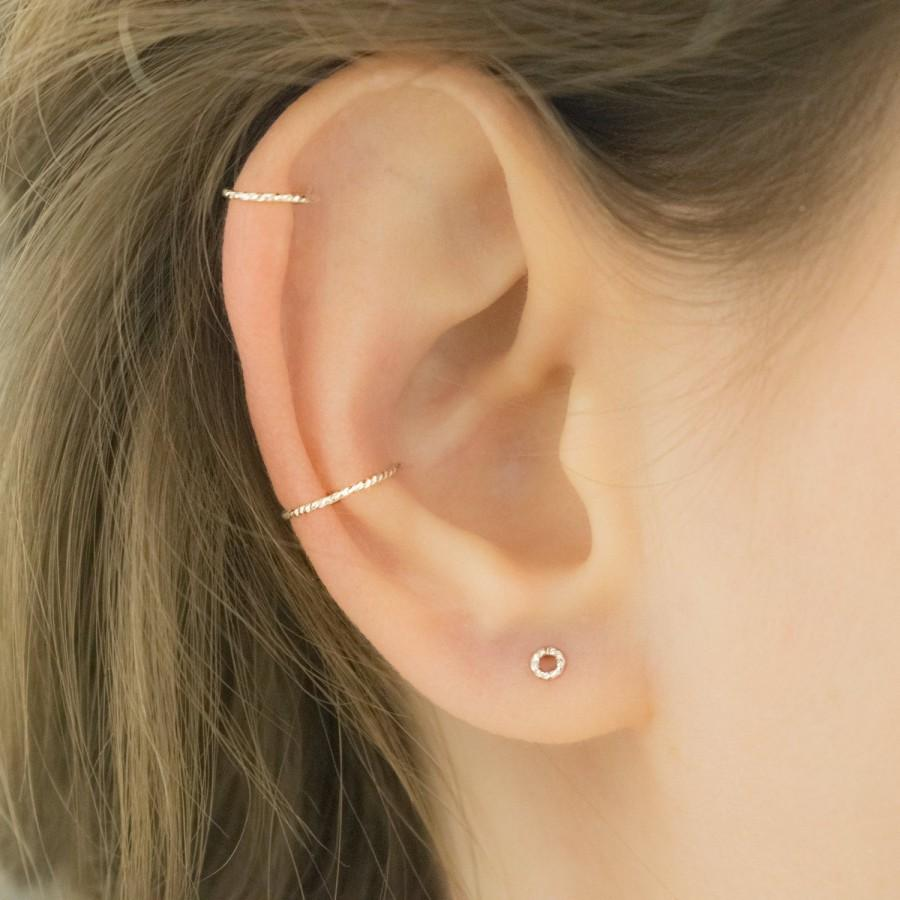 Mariage - MOTHER DAY - Diamond Cut Ear Cuff - Silver Ear Cuff - Non Pierced Earring - Clip On Cartilage Ring