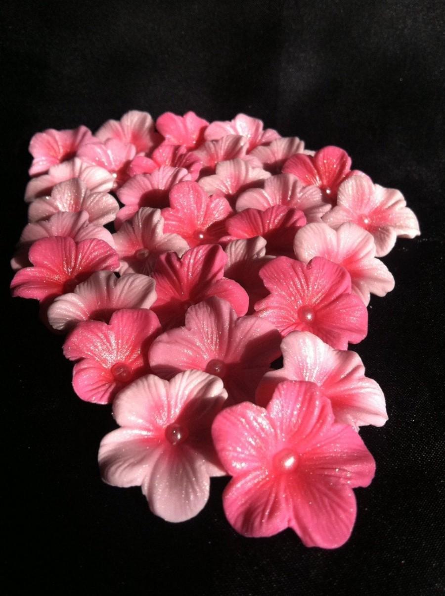 زفاف - Cake Decorations Different Shades of Pink  Cherry Blossoms 25 piece