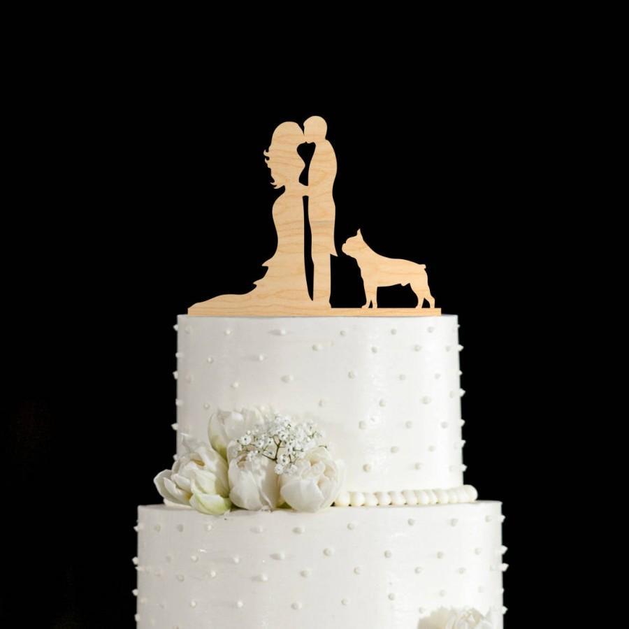 Wedding - Boston terrier,boston terrier cake topper,dog cake topper,wedding cake topper dog,dog wedding cake topper,wedding cake topper,658