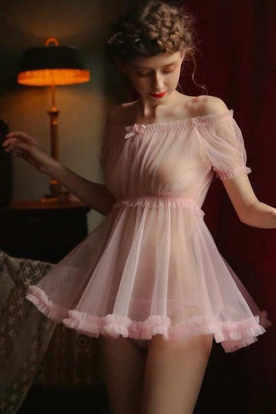 Свадьба - Sexy Lingerie Dress, Sheer Erotic Nightgown