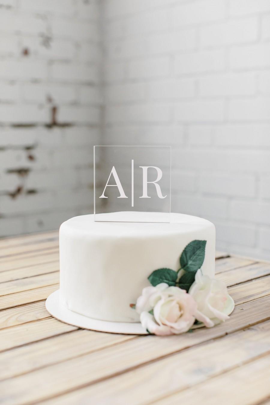 Свадьба - Acrylic Cake Topper