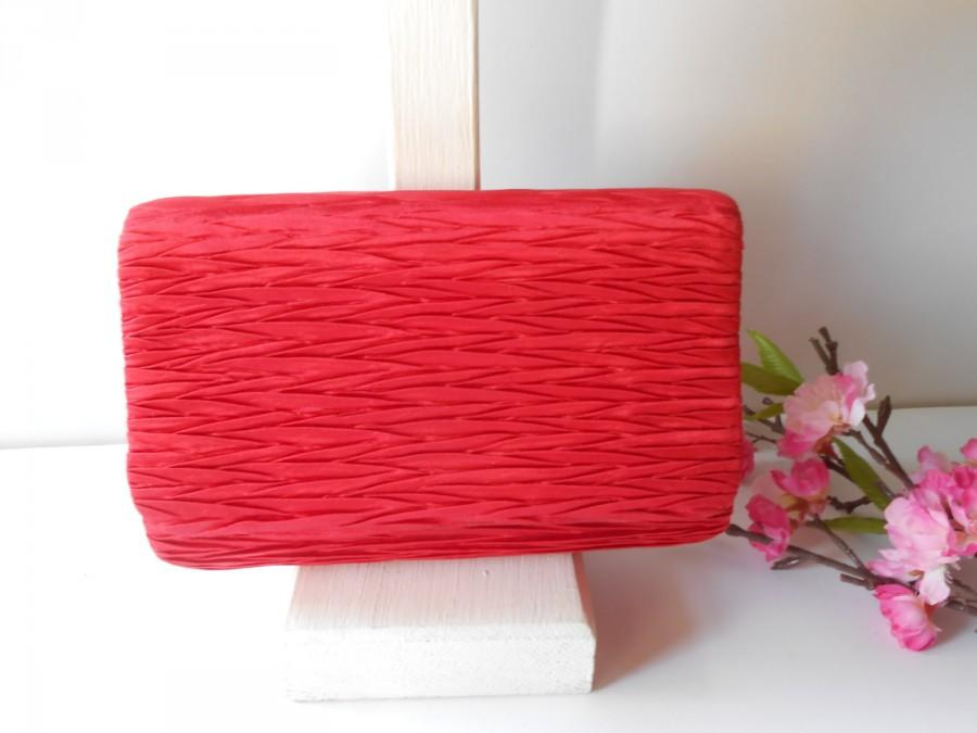 Mariage - Vintage Red Evening Bag, Glamorous Red Clutch Bag,  EB-0722