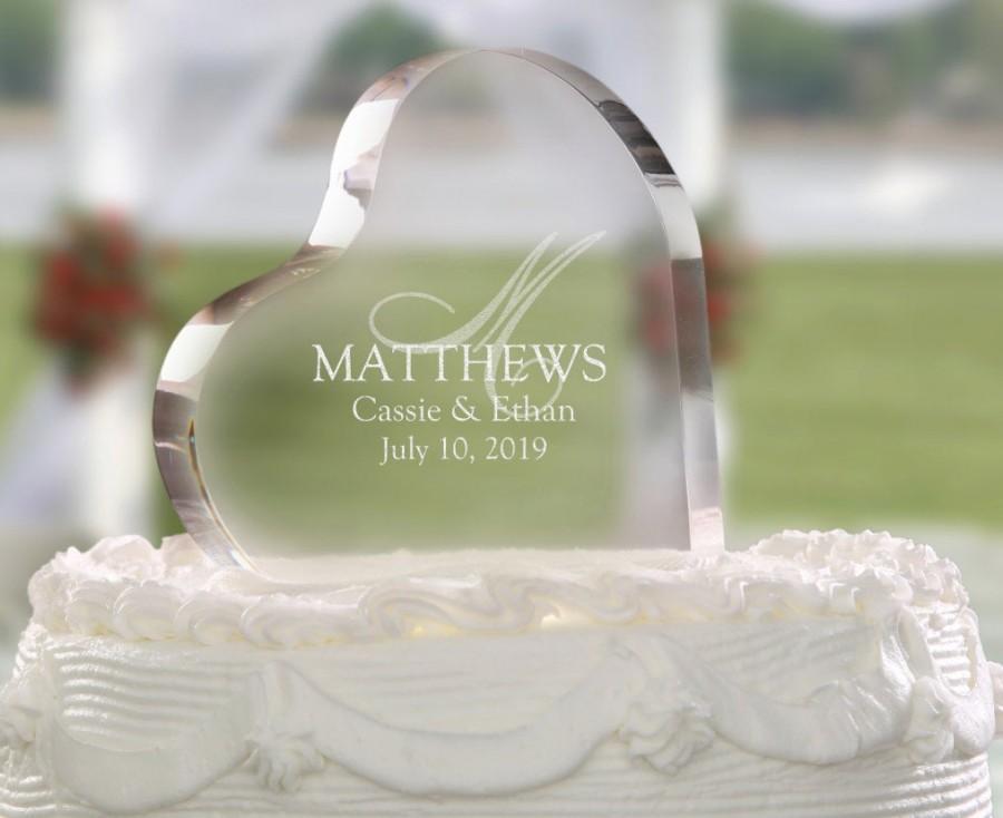 Hochzeit - Wedding Monogram Personalized Cake Topper