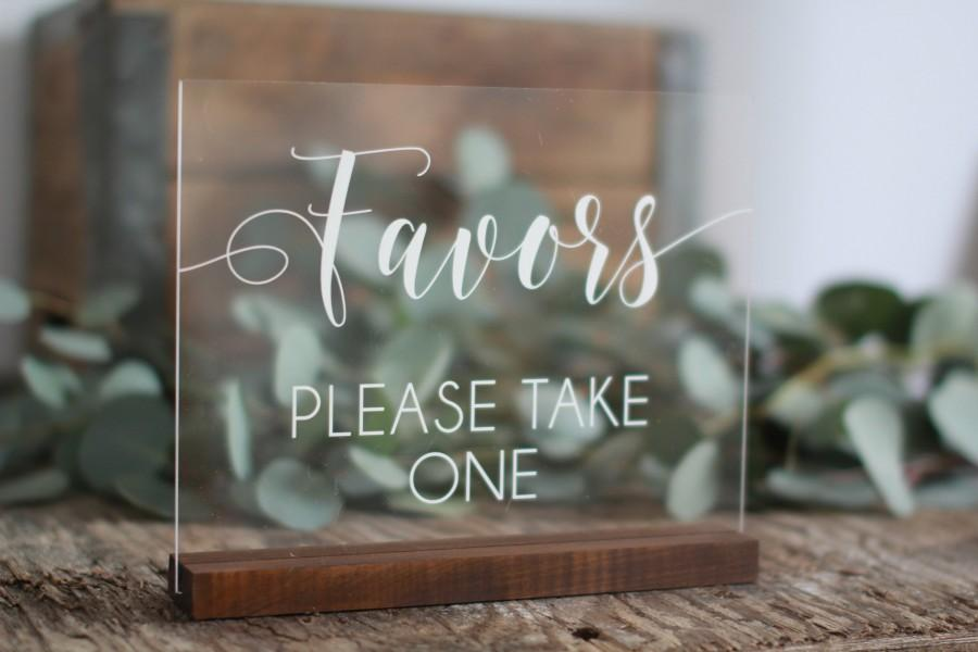 Mariage - Acrylic Wedding Favors Sign