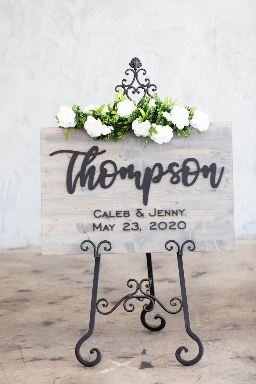 Свадьба - Wedding Sign, Wedding Welcome Sign, Welcome Wedding Sign Wood, Wedding Signage, Wooden Wedding Sign, Last Name Wedding Sign