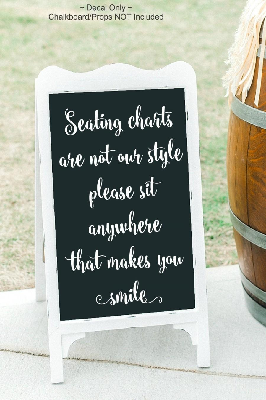 Свадьба - Pick A Seat Decal Pick A Seat Vinyl Seating Decal Seating Charts Are Not Our Style Please Sit Anywhere Choose A Seat Decal