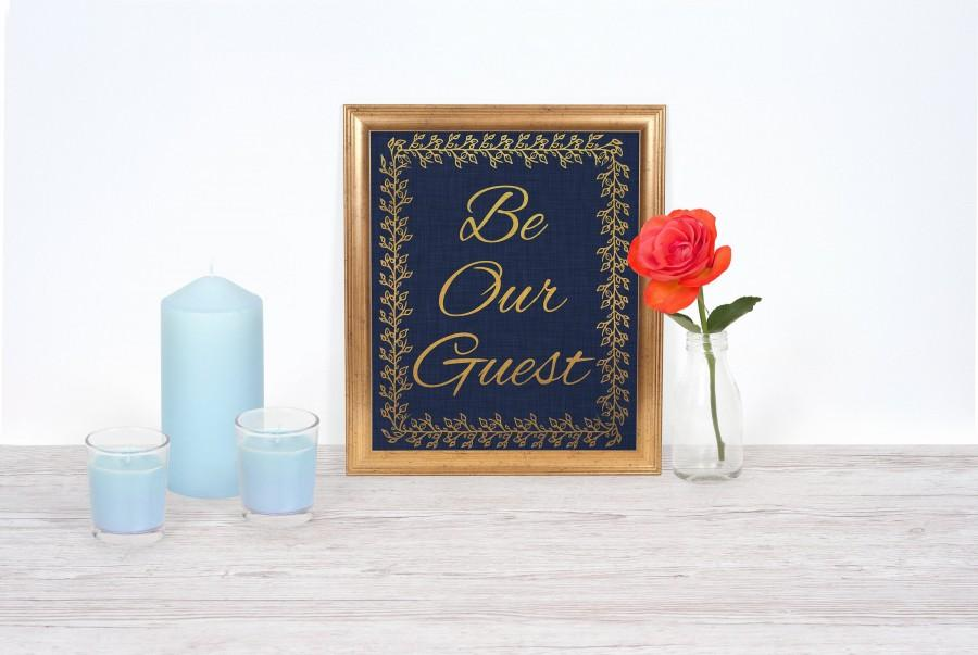 Свадьба - Beauty and the Beast Wedding Be Our Guest Disney Wedding Sign PRINTABLE 8x10 INSTANT DOWNLOAD Fairytale Wedding Bridal Shower Party Theme