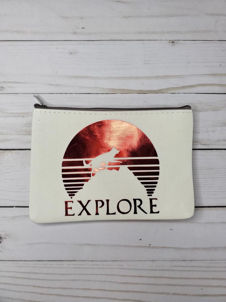 Mariage - Explore canvas pouch