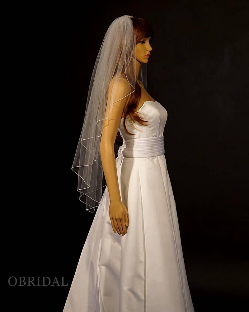Mariage - Gorgeous Cascading Veil - Angel Veil - Fingertip Veil - Custom Veil - Pencil Edge Wedding Veil
