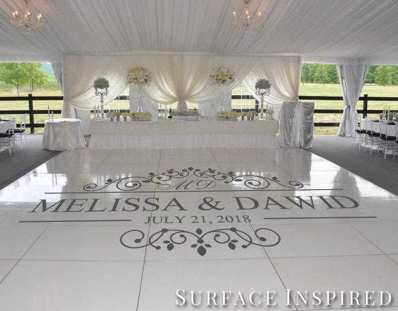 زفاف - Wedding Dance Floor Vinyl Decal - Wedding Decor - Wedding DIY Vinyl Decals - Personalized Wedding Decals