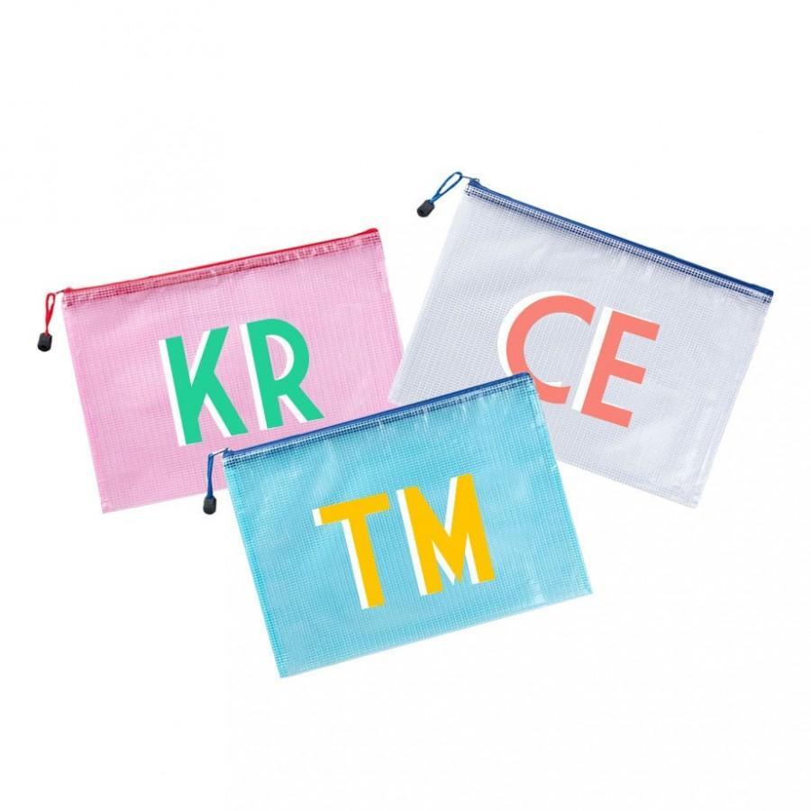 Mariage - Custom Small Pool Bag, Monogram or Name