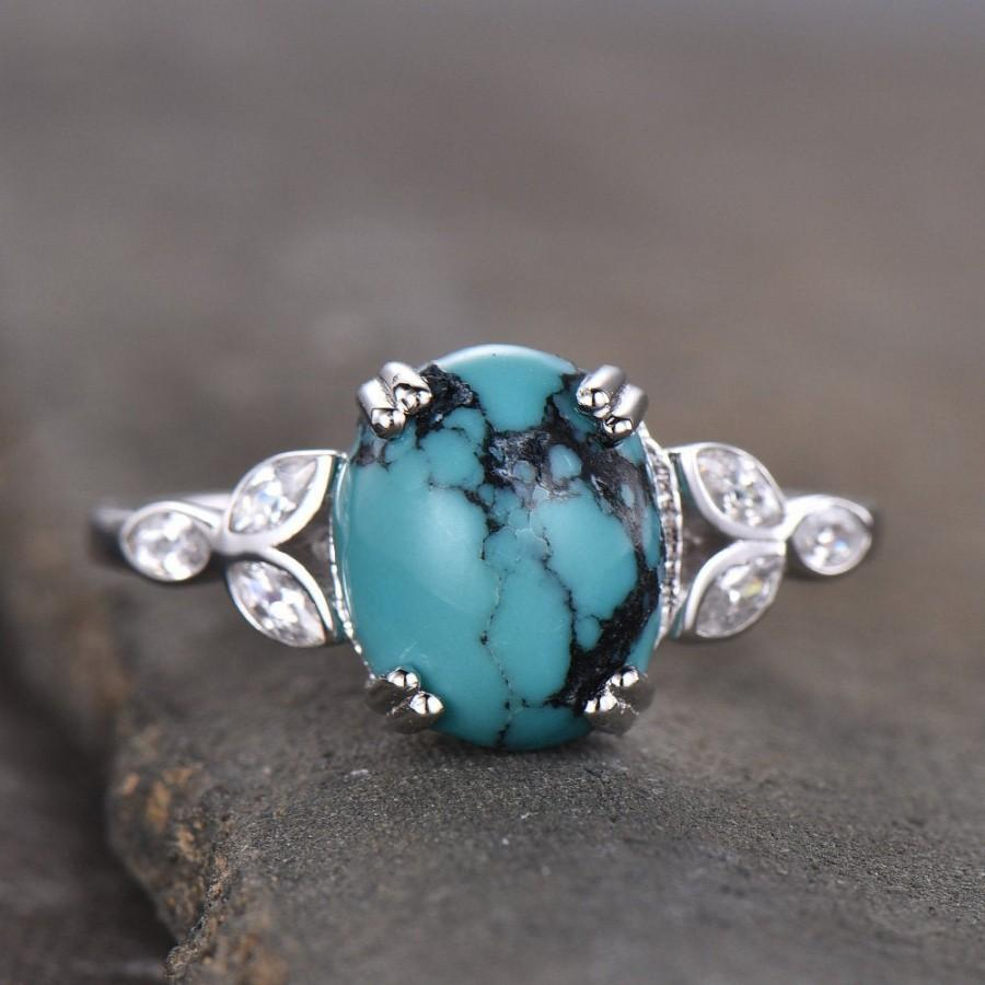 Turquoise Ring,Engagement Ring,Wedding Band,925 Sterling Silver Ring,Anniversary Ring,Personalized Gift For Her,turquoise Ring,Silver Ring