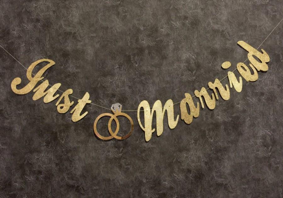Mariage - Just Married, She Said Yaaas  Wedding Banner, Just Married Sign, Just Married Bridal Banner, Reception Banner