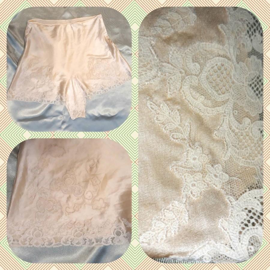 Wedding - Vintage 1930's / 1940's silk lingerie tap shorts