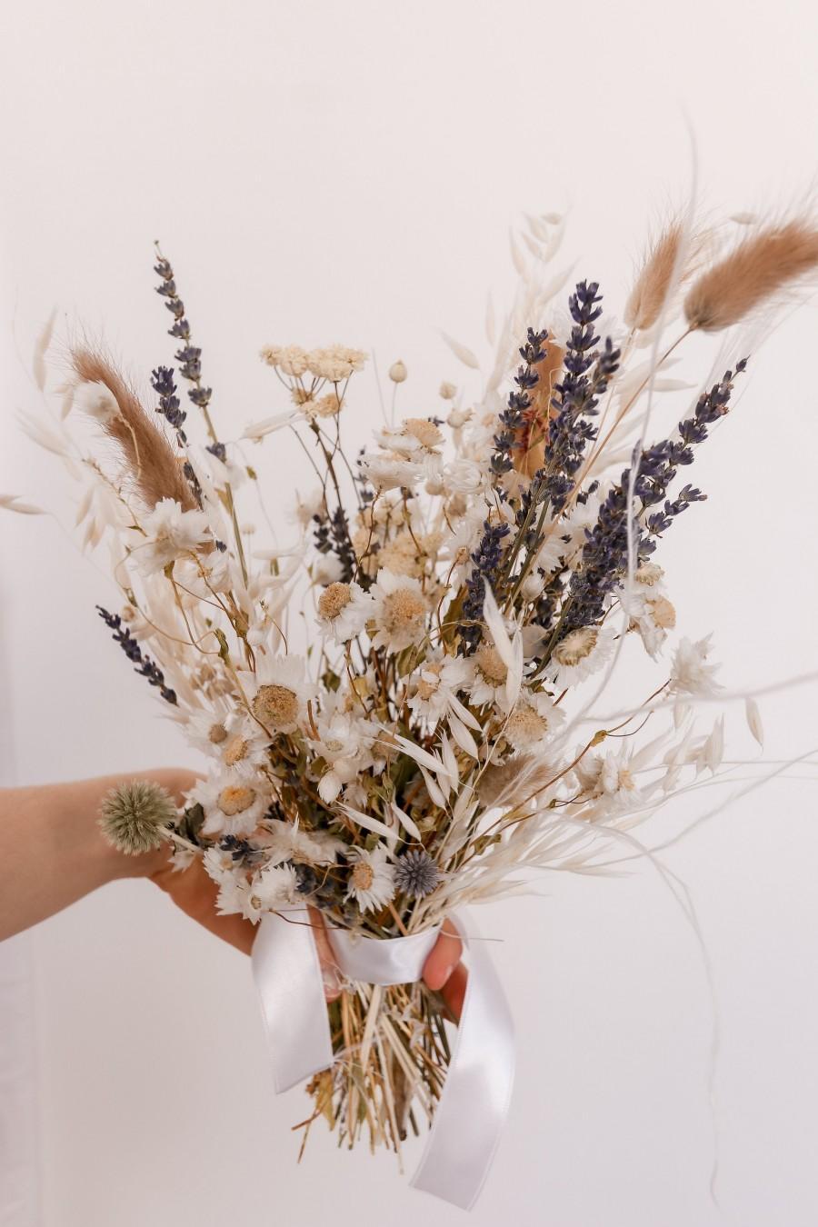 Mariage - Dried Lavender Bouquet / Dried Daisy Bouquet / Echinops Thistle Bouquet / Wildflower Bouquet / Picked Flower Bouquet