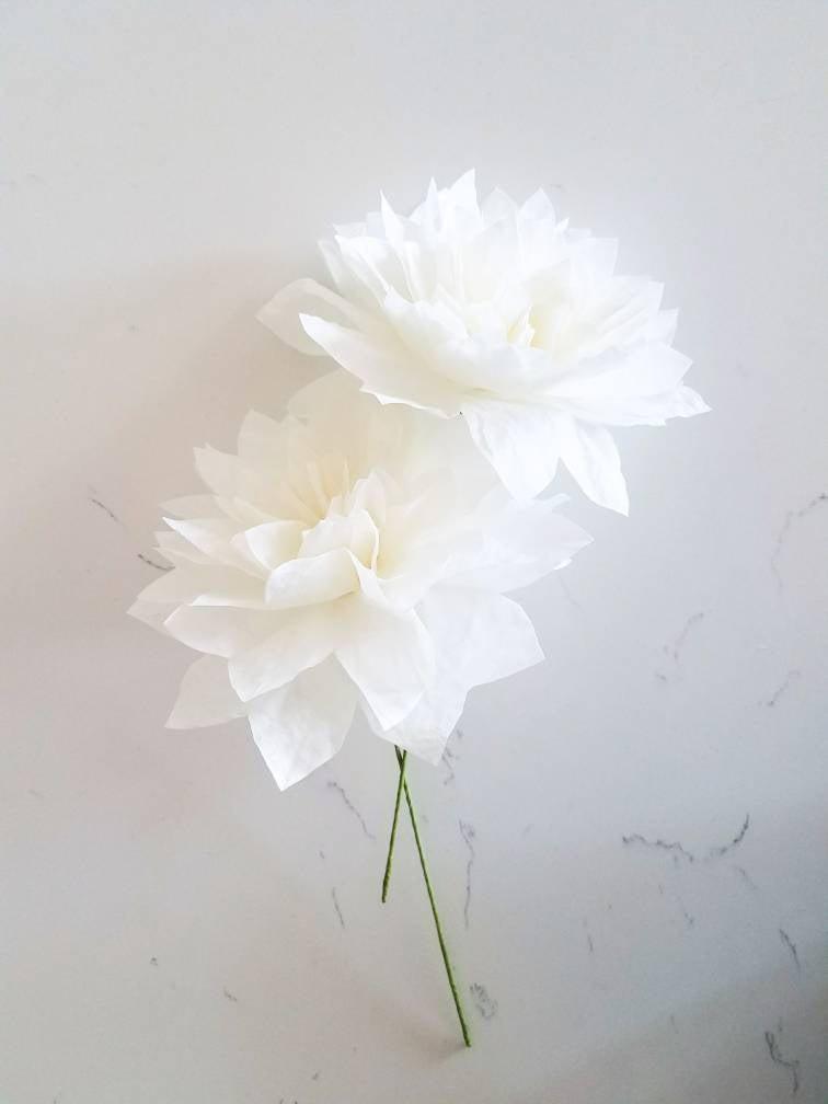 Свадьба - Dahlia Paper Flowers-Wedding Flowers, Paper Flower Bouquet,Bridesmaid Bouquet, Bridal Shower,Cake Topper, Baby Shower, Bridal Bouquet