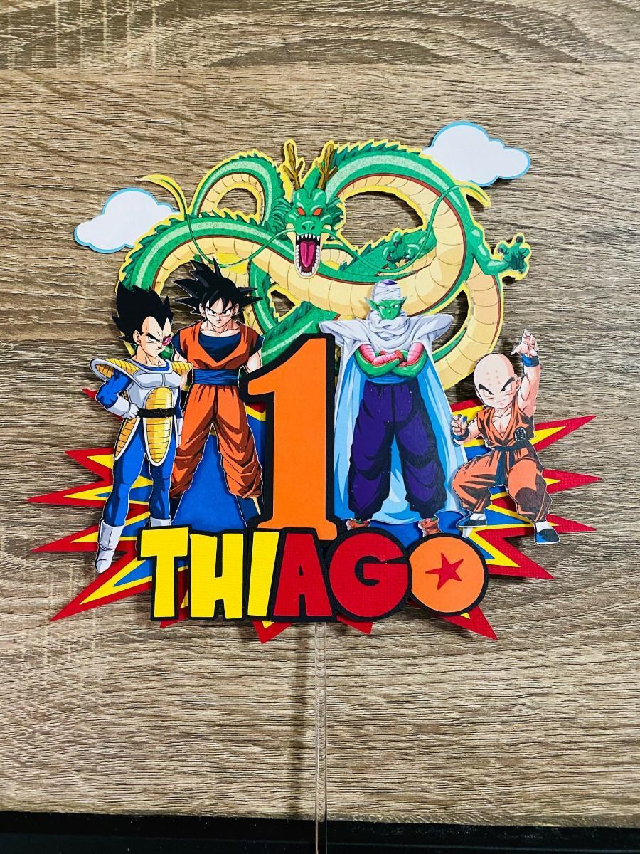 Hochzeit - Dragon Ball Z Cake Topper, Dragon Ball Cake topper, Custom Cake Topper, Custom Topper Dragon Ball, Birthday Dragon Ball, Goku Cake Topper