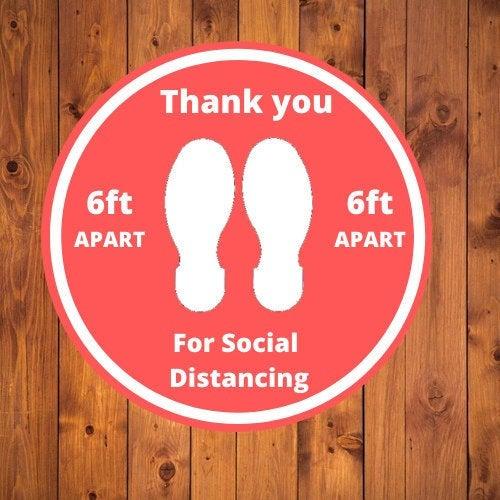 Mariage - Social Distancing Floor Decal