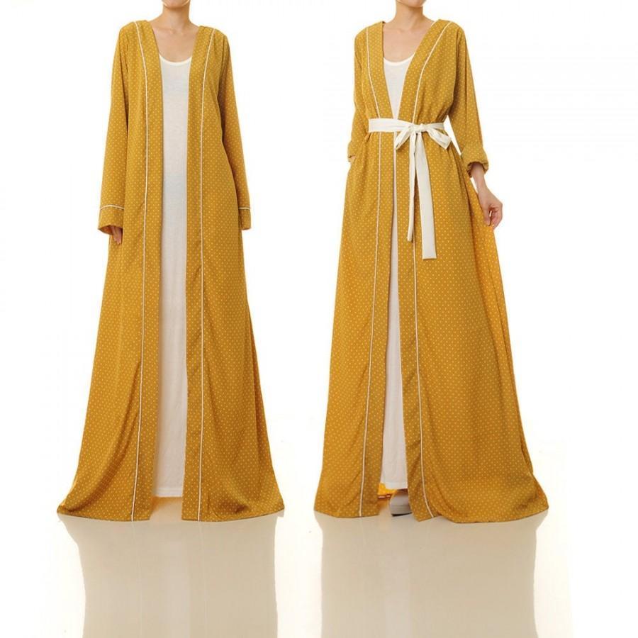 Mariage - Yellow Kimono Cardigan Polkadot