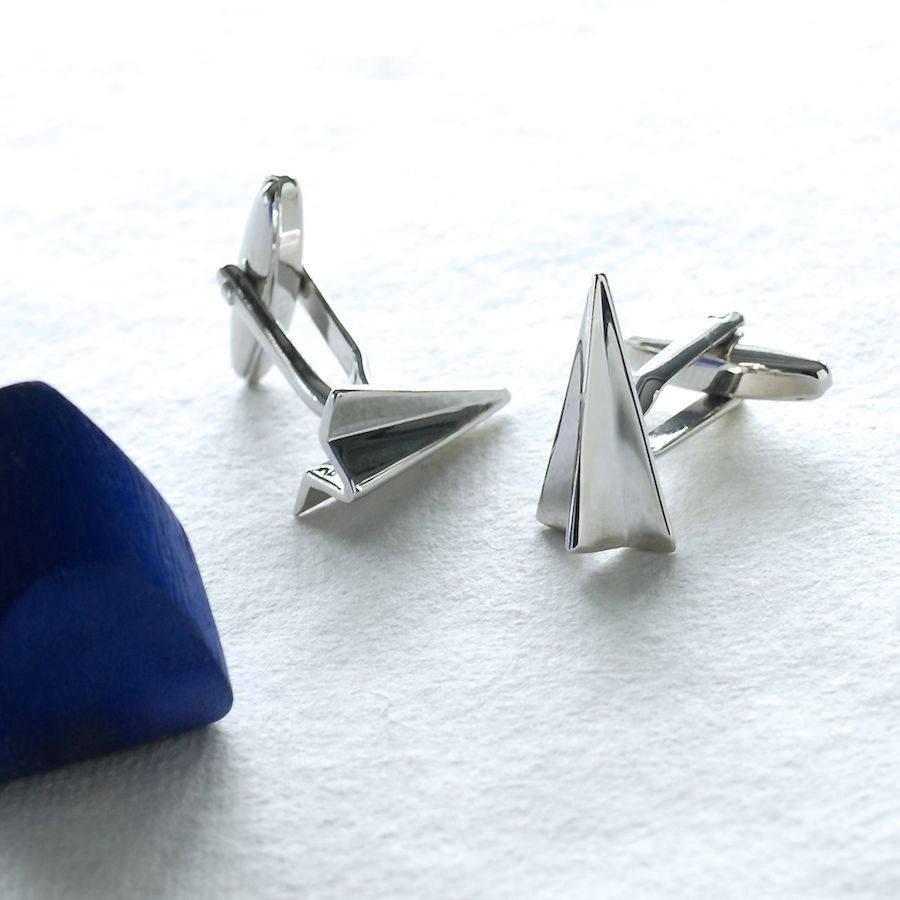 زفاف - Personalised Boxed Paper Plane Cufflinks, First Anniversary Gift, Unusual Paper Anniversary Gift, Anniversary Gift for Him, Valentine's Gift