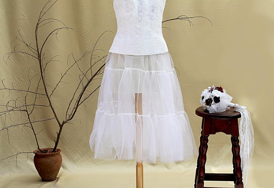 Mariage - Tulle Wedding Crinoline Bridal Petticoat Underskirt Wedding Dress Wedding Separates Bridal Slip Retro Wedding Bohemian Wedding