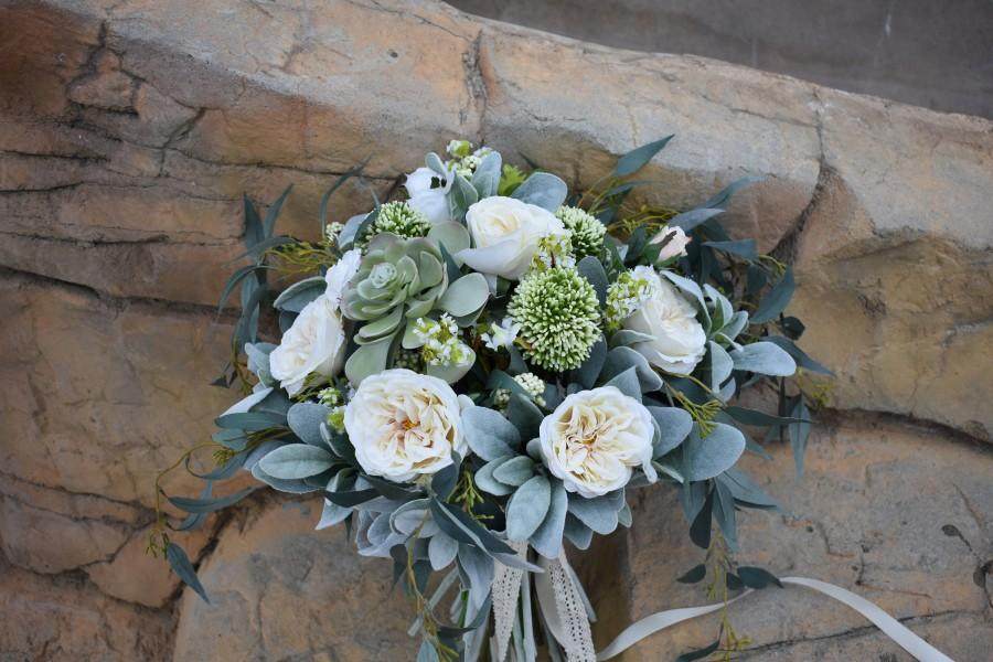 Hochzeit - Silk Bridal Bouquet, Brides Bouquet, Silk Brides Bouquet, Wedding Bouquet,Succulent bouquet, bridal bouquet,