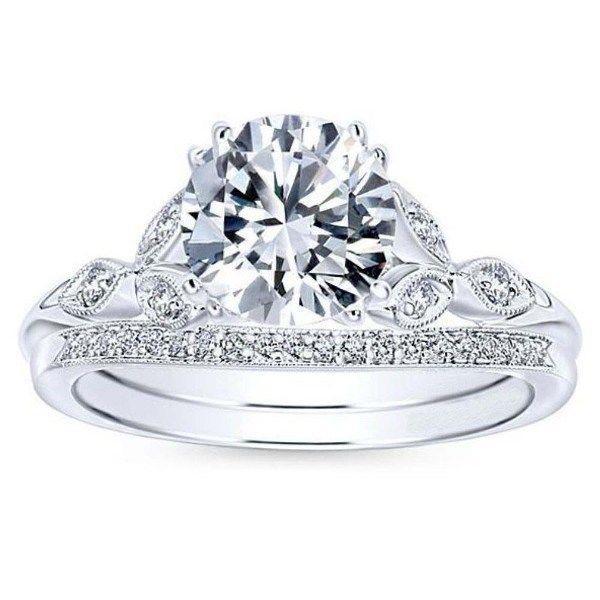 Mariage - Buy 1ct Moissanite Wedding sets