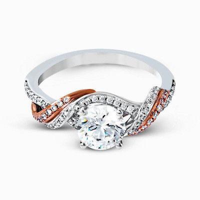 زفاف - Buy 2 ct rose gold Moissanite Ring
