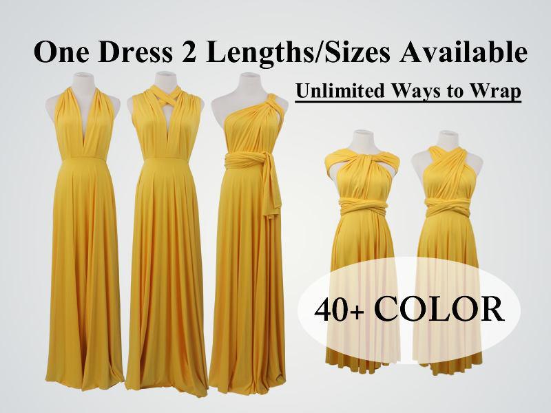 Wedding - Bright Yellow bridesmaid dress long infinity dress short convertible bridesmaid dress infinity dress long maxi dress wedding dress