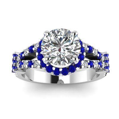 Mariage - 1.5ct Moissanite Halo Ring Under $200