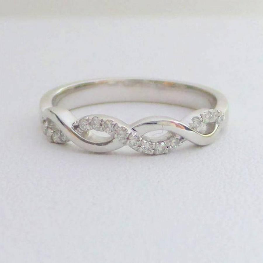 Свадьба - Shop For Stylish 0.16ct Twisted Wedding Band