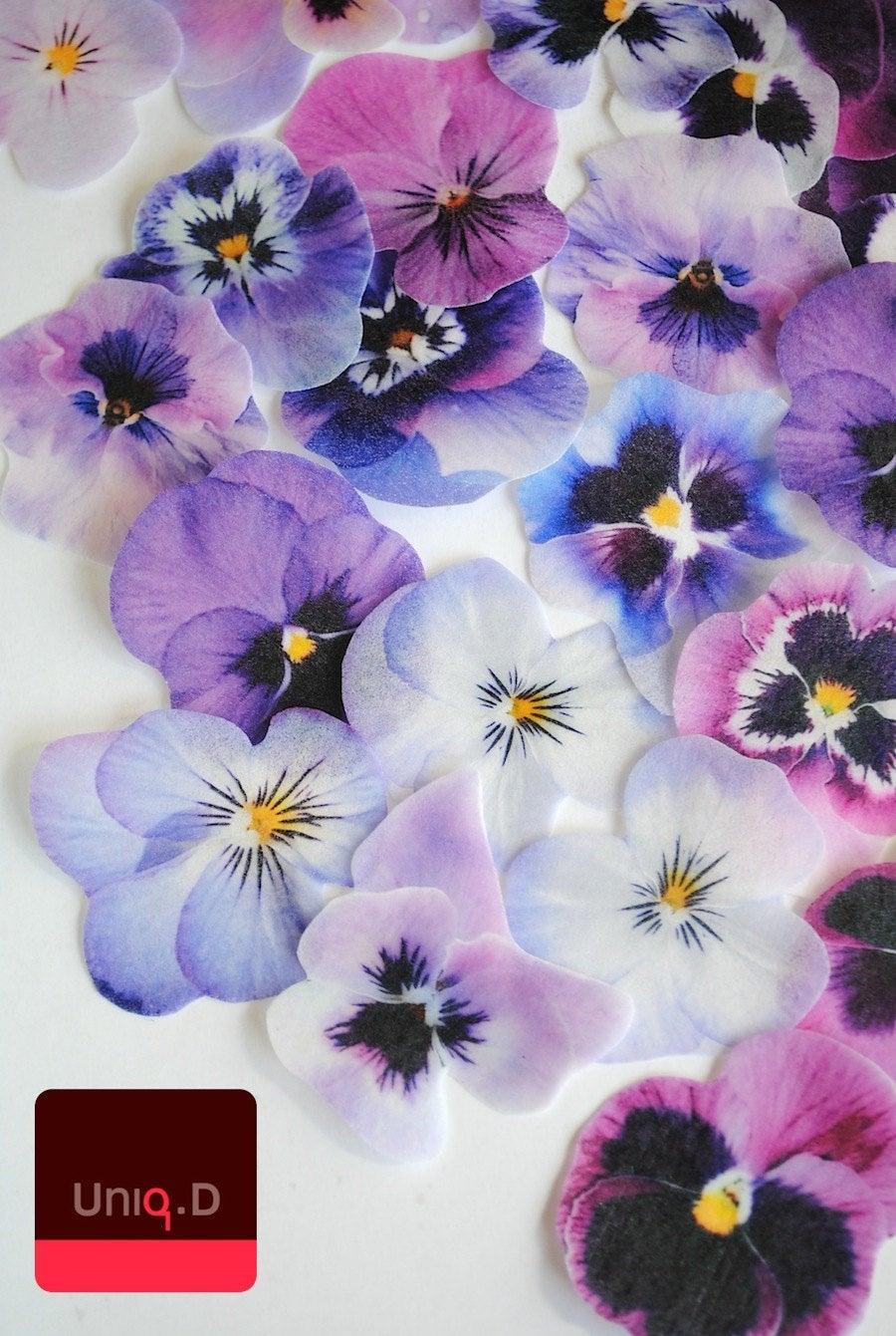 زفاف - BUY 36 get 4 FRE purple edible cake decoration - confetti - lavender  wedding cake toppers - edible cupcake toppers by Uniqdots on Etsy