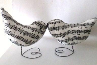 Hochzeit - Music Birds Wedding Cake Topper Beaconhillcollect Music Cake Toppers