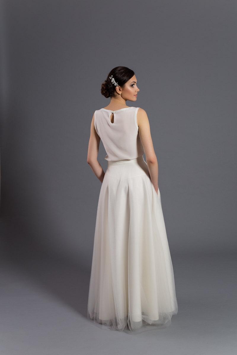 زفاف - Maxi tulle skirt with pockets, tulle skirt, ecru skirt, ecru maxi skirt, wedding gown, wedding skirt, maxi dress, bridal dress,wedding dress
