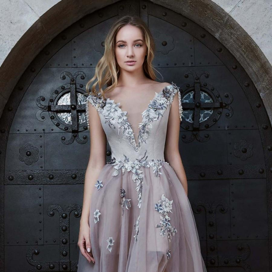 Wedding - Bohemian Dress Prom Dress Long Goddess Dress Alternative Wedding Dress Evening Gown Floral Dress Tulle Dress Women Wedding Guest Dress 2020