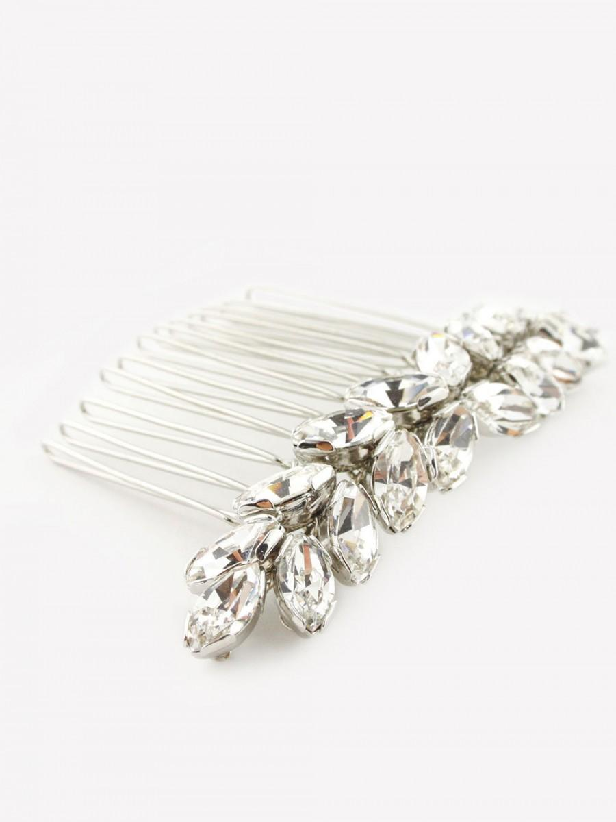 Mariage - CERES - Crystal hair comb / hair accessories / accessory made of sparkling Swarovski leaf branches accessory for wedding or occasions