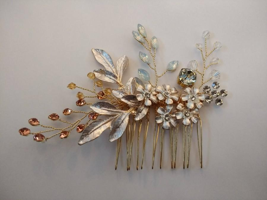 Wedding - Stunning Hand Wired Bridal Hair Comb. Wedding Hair Accessories.